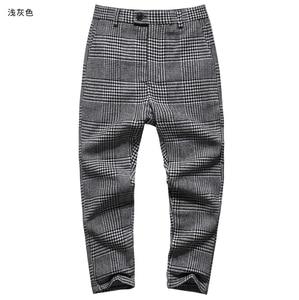 Image 5 - 高品質の新メンズ冬 & 春スキニーパンツ男性無地ウールのスーツのズボンメンズビジネスフォーマルなカジュアルズボン K681 2