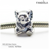 100 925 Sterling Silver Lovely Lucky Elephant Animal Charms Beads For Jewelry Making Fits Fandola Diy