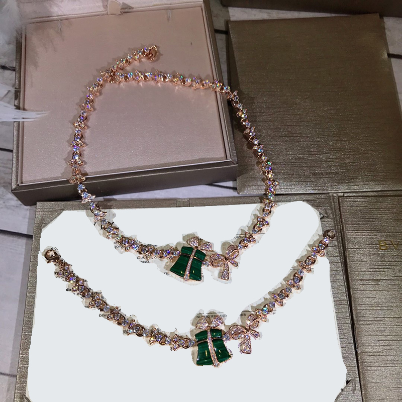 Brand Fine Pure 925 Silver Jewelry For Women Wedding Green Stone Gifts Box Party Jewelry Set