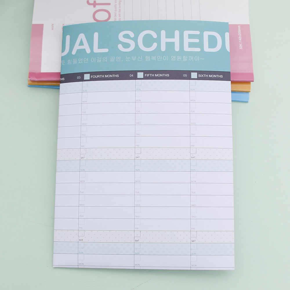Calendario esfuerzo libro planificador 365 día Agenda anual diario hojas para diario Plan libro escritorio estudiante Oficina suministro regalo de Navidad