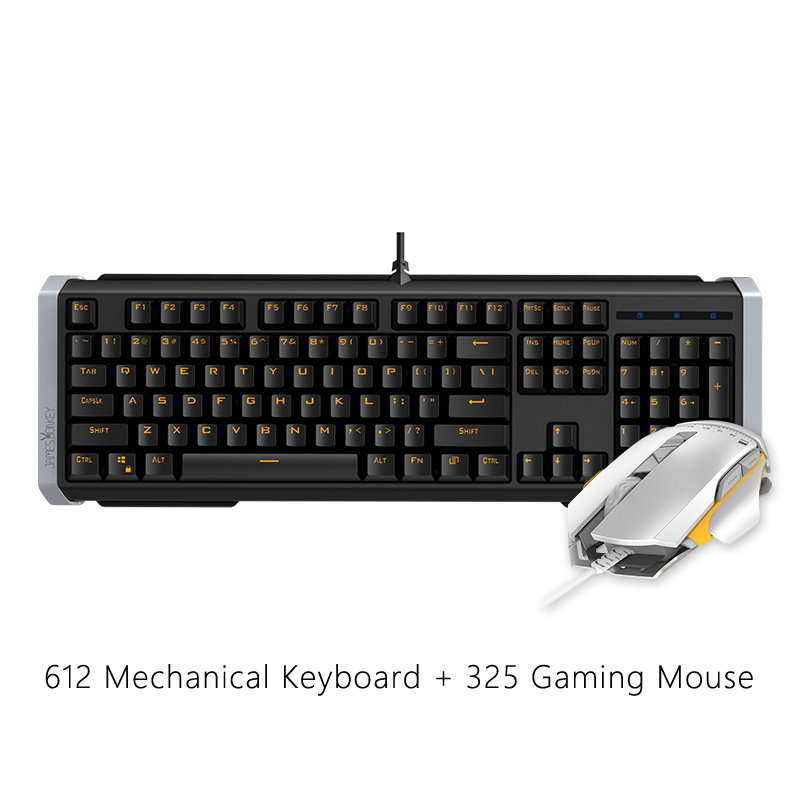 USB Wired Gaming Mouse + 104 Tasti Tastiera Da Gioco Meccanica con Anti le immagini fantasma Retroilluminazione A LED per Mac PC Gamer CS, mouse da gioco - 2