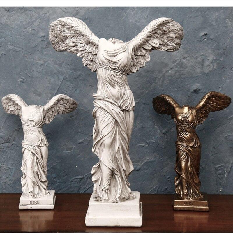 Home Decoration Accessories Fashion Abstract Goddess Nike Statue Sculpture Home Ornament Handmade Gift Goddess Sculpture