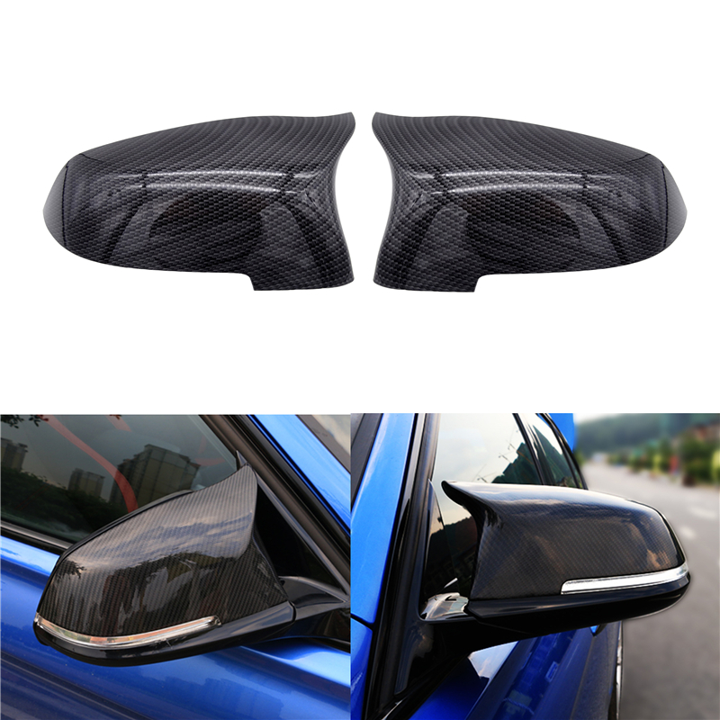 1 Pair Car Mirror Covers Side Rearview Auto Mirror Cover Cap For <font><b>BMW</b></font> 5 6 7 Series F10 F18 <font><b>F11</b></font> F06 F07 F12 F13 F01 2014 <font><b>2015</b></font> 2016 image