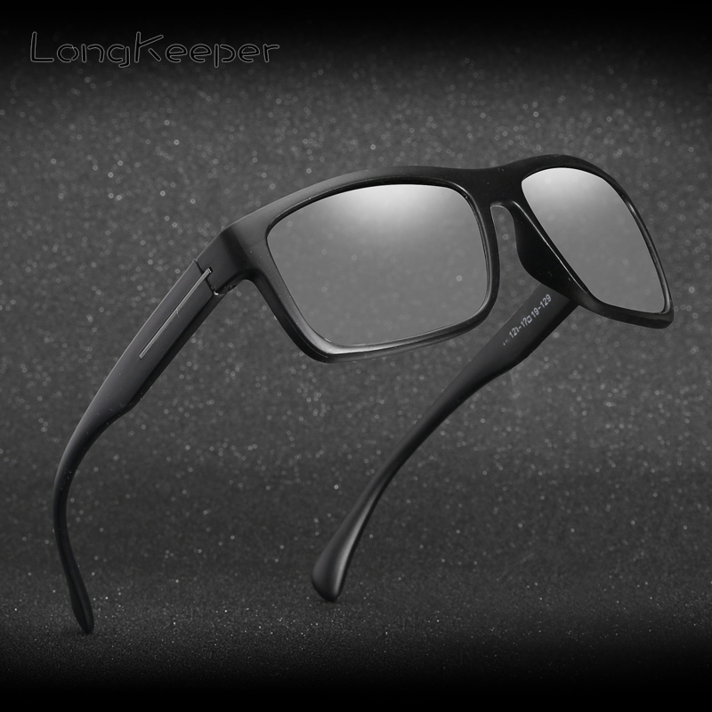 74cf5e348f9d7 Hot Sale Men HD Polarized Photochromic Sunglasses Women Chameleon  Discoloration Sun glasses Black Frame by LongKeeper 1821 23 24-in Sunglasses  from Apparel ...
