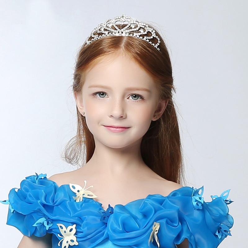 Золушка Принцесса Корона женские ленты для волос подарок для детей горный хрусталь корона принцесса стиль рождественский подарок диадемы для девочек