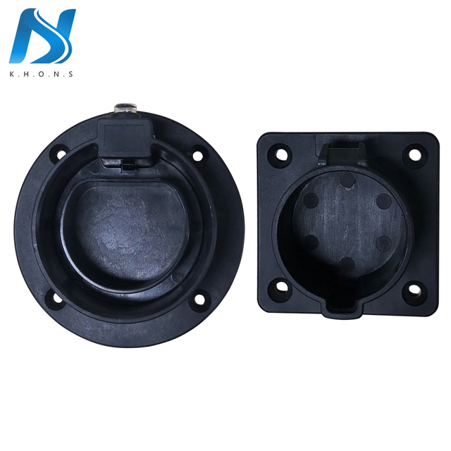 EV Charger Station Accessories SAE J1772 Type1 IEC 62196 Type2 AC Dummy Socket Holder For EV Charging Station Electric Vehicle