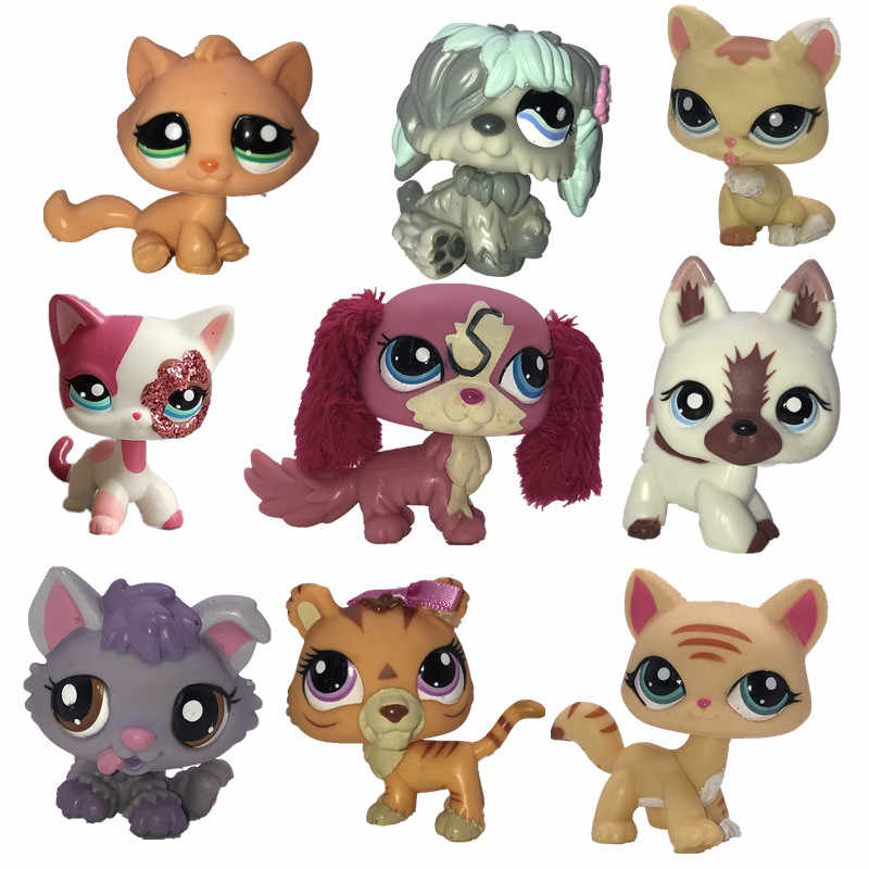Free Shippin Original cute toys Lovely Pet shop animal Pet ca braid dog cat pet action figure littlest doll Little gift girl toy