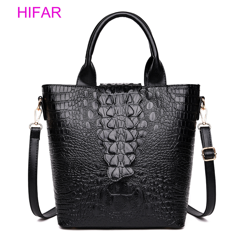 Women's PU leather bags fashionable split with a pattern of Alligator ladies handbags famous brands of women's office clutch