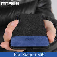 Para Xiaomi mi 9 funda cubierta trasera global tela protectora de silicona funda de tela a prueba de golpes capas MOFi original mi 9 SE caso