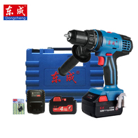 Dongcheng 18 Volt Max DC Lithium Ion Battery 14mm 2 Speed Electric Cordless Drill Mini Screwdriver Impact Power Driver