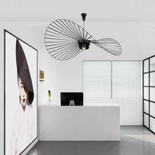 лучшая цена Modern Simple LED Vertigo Pendant Light Instagram Ineternet Personality Hat Hanging Lamp For Dining Room Restaurant cafe Bar