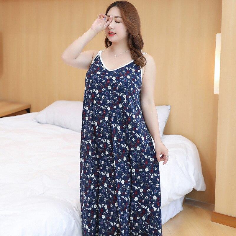 Plus Size New Sexy   Sleepshirt   Satin Sleepwear Women Loose Nightwear Print Flower Home Dress Casual Nightie   Nightgown   XL-XXXL