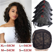 1 Pcs/Lot Wig cap for making wigs with adjustable strap on the back weaving size S/M/L/XL glueless wig caps