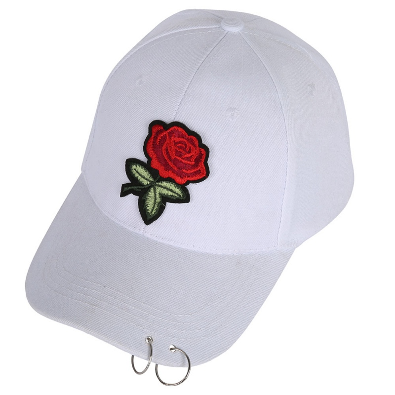 d2440341e9fac 2018 New Hot Fashion Roses Men Women Baseball Caps Spring Summer Sun Hats  for Women Solid Snapback Cap Wholesale Dad Hat