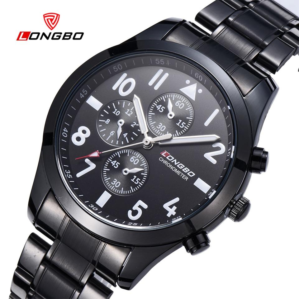 New LONGBO Brand Business Relogio Masculino Japan Movement Tungsten Steel Men Watch Dress Casual Quartz Wrist