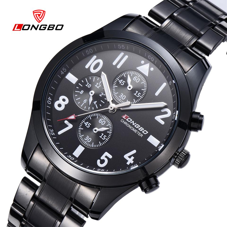 Prix pour Nouveau longbo marque d'affaires relogio masculino japon mouvement de tungstène acier hommes montre robe casual bracelet à quartz montres ws162