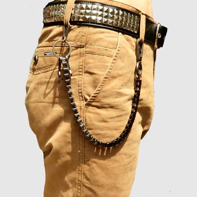Fashion Punk Hip-hop Trendy Belt Waist Chain Male Pants Chain Hot Women Men Jeans Alloy For Clothing Accessories Gift 1PC