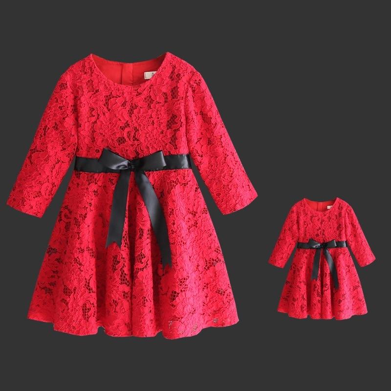 děti oblečení sada máma dítě princezna dívka narozeniny krajkové šaty matka dcera večerní párty šaty rodina odpovídající oblečení
