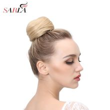 SARLA Synthetic Hair Bun Donut Postiche Cheveux Chignon Clip in Hairpiece Up Do Hair Extension Hair Piece Fake Pince Accessoire(China)
