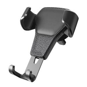 Image 2 - פופ רכב הכבידה טלפון מחזיק רכב אוויר Vent הר Stand לא מגנטי נייד טלפון מחזיק אוניברסלי הכבידה Smartphone Stand