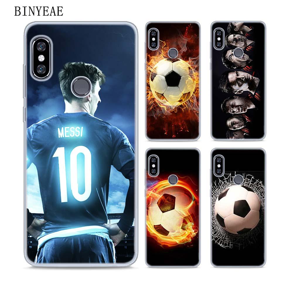 BINYEAE Fire Football Soccer Soft TPU Transparent Case Cover for Xiaomi Mi Redmi Note A1 A2 4X 5 5A 4 4A 3 3S Plus