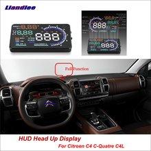 Liandlee Car Head Up Display HUD For Citroen C4 C-Quatre C4L 2013-2018 Dynamic Driving Computer HD Projector Screen Detector