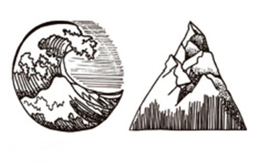 Waterproof Temporary Ocean and Mountain Tattoo
