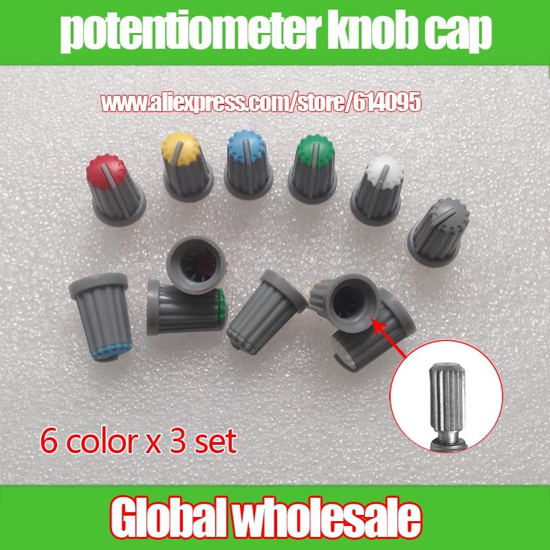 plum Flower Pattern Active Components 20pcs Wh148 Knob Cap Ag2 15*17mm Hole 6mm Potentiometer Power Amplifier Knob