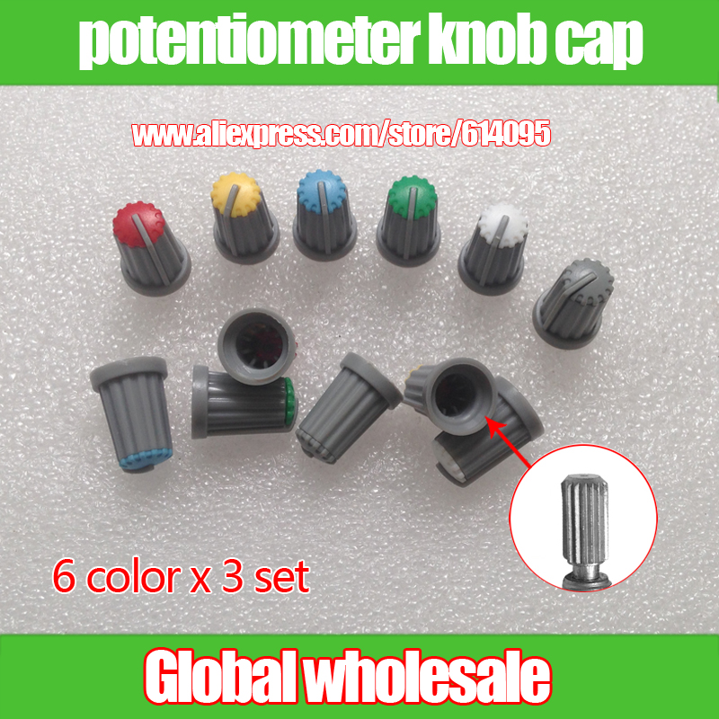 Integrated Circuits 20pcs Wh148 Knob Cap Ag2 15*17mm Hole 6mm Potentiometer Power Amplifier Knob plum Flower Pattern Active Components