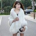 Меховой Жилет Бросился Топ Моды Невесты Свадебное Платье 2016 Осень И зимой Женщины Шуба Была Имитация Норки Лисицы Большой Размер Шаль