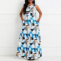 Clocolor Women Maxi Dress Off Color Block Maxi Dress White sleeveless O Neck Long high Waist Floor Length Gown