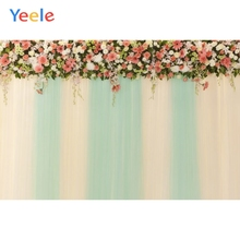 Yeele Wedding Flower Photography Backdrops Curtain Birthday Party Custom Photocall Baby Shower Background For Photo Studio цены