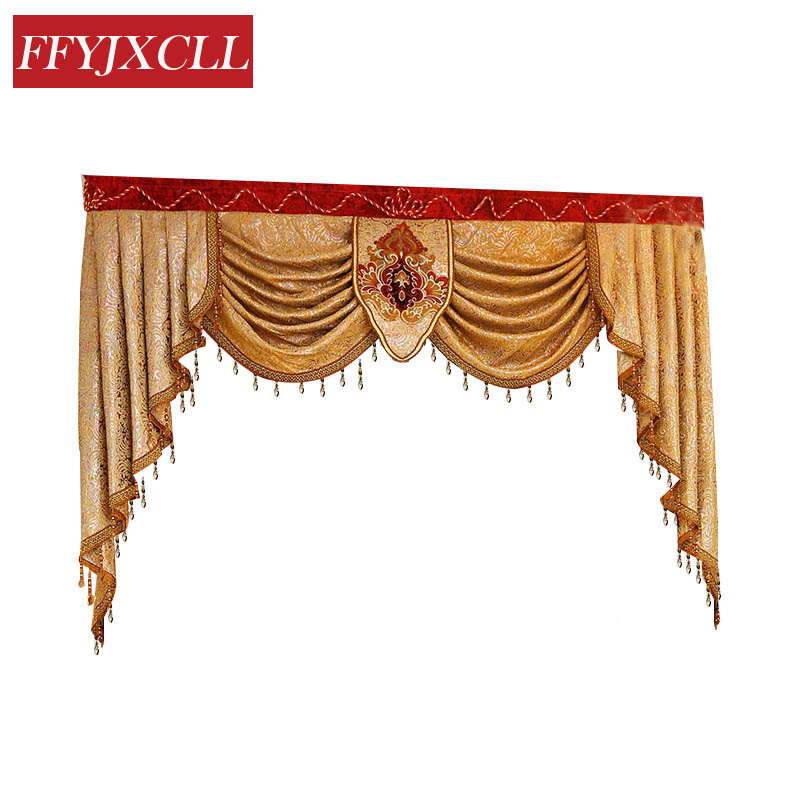 Home Hotel Custom Made Pelmet Valance Europe Luxury Valance Curtains For Living Room Window Curtains For Bedroom Curtains