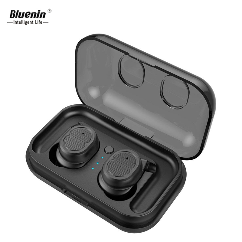 Bluenin Bluetooth 5.0 Wireless ear buds Sports Stereo Bluetooth Dual Headset IPX5 Waterproof Twin Earphone Bluetooth for Android mini tws v5 0 bluetooth earphone port wireless earbuds stereo in ear bluetooth waterproof wireless ear buds headset yz209