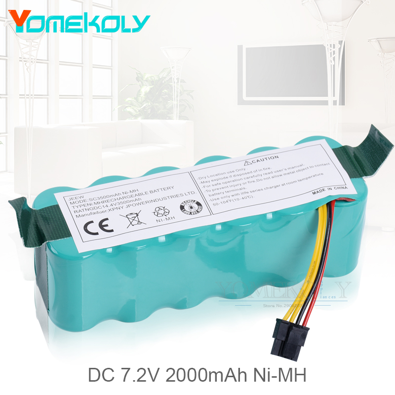 купить Replacement NI-MH 14.4V 3500mAh Battery for Panda X500 X600 Ecovacs Mirror CR120 Dibea X500 X580 Vacuum Cleaner Battery