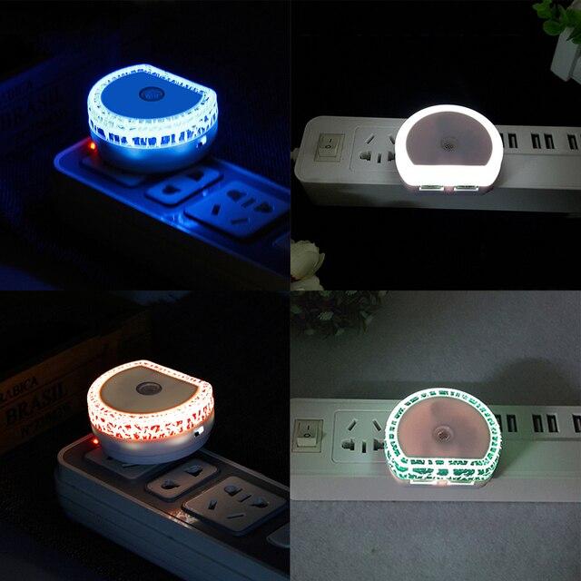 LED lampka nocna czujnik zmierzchu lampa z podwójny Port ładowania USB dla dzieci Nursely naścienny czujnik dla tej lampy dla dzieci dla dorosłych sypialnia