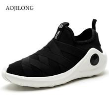 Aojilong Basket Femme 2017 мужская повседневная обувь роскошные суперзвезда летать ткать сетки воздуха легкий парусиновая обувь Человек Zapatillas Hombre