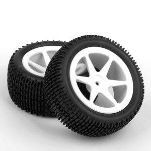 "Image 5 - 4 יח\סט 12 מ""מ hex באגי צמיגים מול & אחורי גומי צמיג חישוק גלגל 25034 + 27013 fit עבור RC 1:10 off road buggy רכב צעצועי אבזרים"