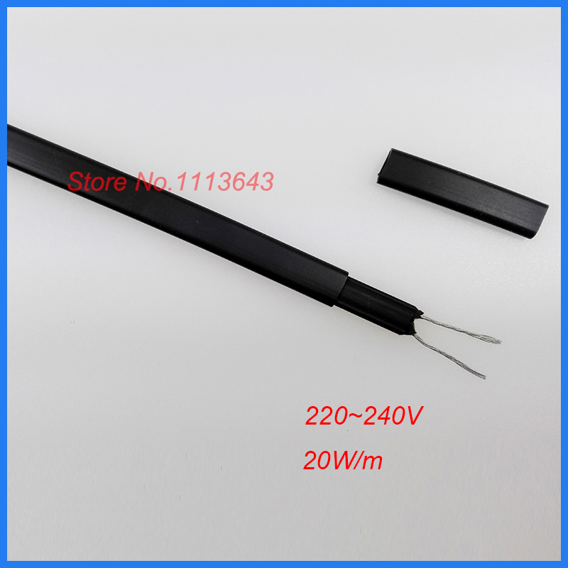 100m Anti freeze Frost Protection Heating Cable For Water Pipe Roof 230V 8MM Self Regulating Electric