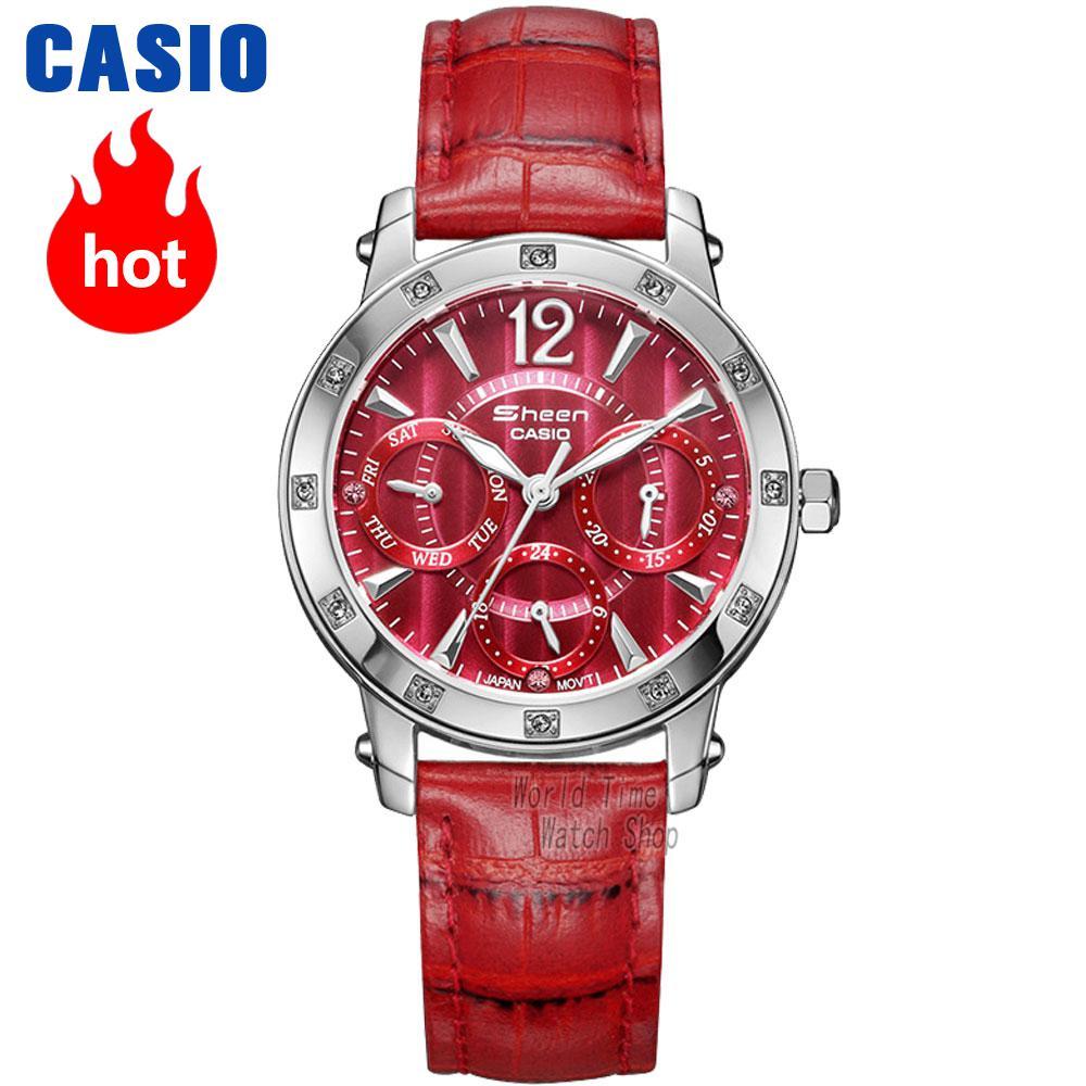 цена на Casio watch Fashion diamond waterproof quartz watch SHN-3012L-4A SHN-3012GL-7A SHN-3012D-4A SHN-3013L-7A SHN-3013D-7A