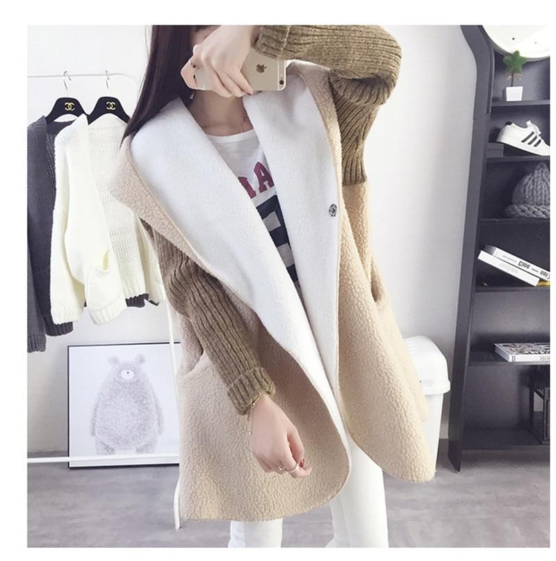 New Jaket Fashion Wanita Musim Semi Slim Mantel Jaket Tebal kasmir  berkerudung mantel dalam Jaket Wanita Tahan Dr wanita Pakaian SW008 d5af045d4e