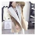 Nova jaqueta moda primavera fino casaco jaqueta grossa cashmere com capuz casaco longo casaco mulheres Outwear mulheres de roupas