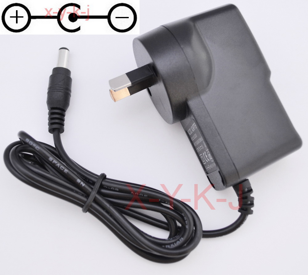 50PCS High quality AC DC 9V 1A Switching Power Supply adapter Reverse Polarity Negative Inside AU