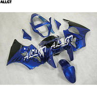 ABS литой Пластик обтекатель Наборы пригодный для Kawasaki Ninja ZX6R ZX 6R 636 2000 2001 2002 00 01 02 черный пламя Синий