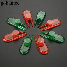 Пластиковая Вилка для мяча гольфа divot toos (8 шт) зеленый