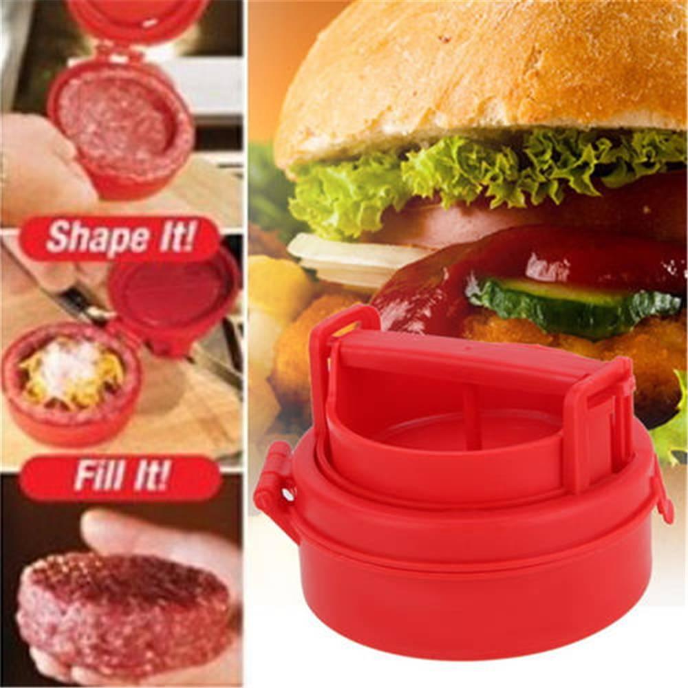 Cuisine produits viande outil Bourré Burger Presse Hamburger Grill BBQ Patty Maker Juicy En Plastique Outil De Presse