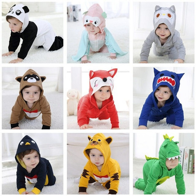 Christmas 11 Style Baby Boys Girls Clothes Pure Cotton Infant Clothes Cartoon Animal Newborn Baby Clothes Children's Jumpsuit