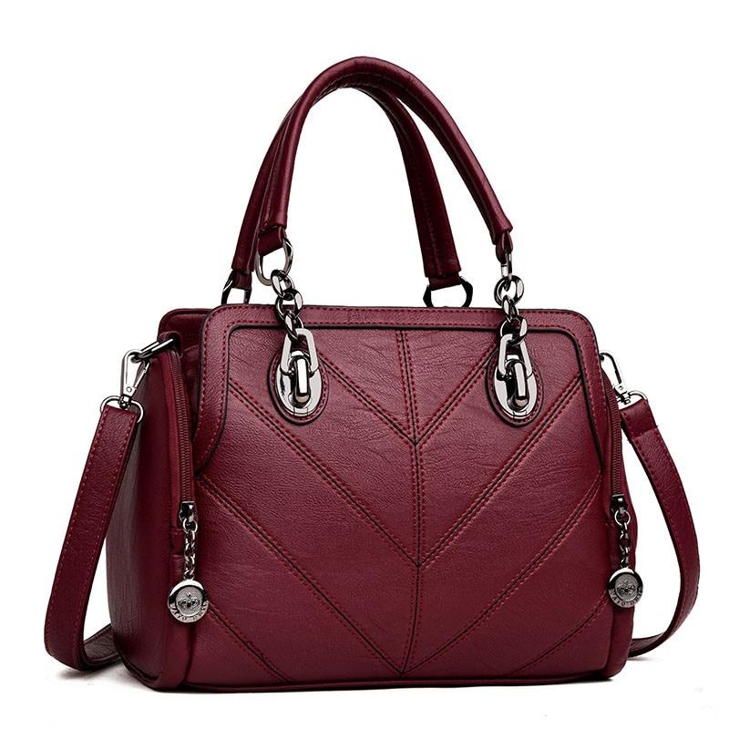 2018 Genuine Leather Women Shoulder Bags Handbag Portable chain Zipper Soft Ladies Bag High Quality Bolsas Femininas A188 женские блузки и рубашки hi holiday roupas femininas blusa blusas femininas