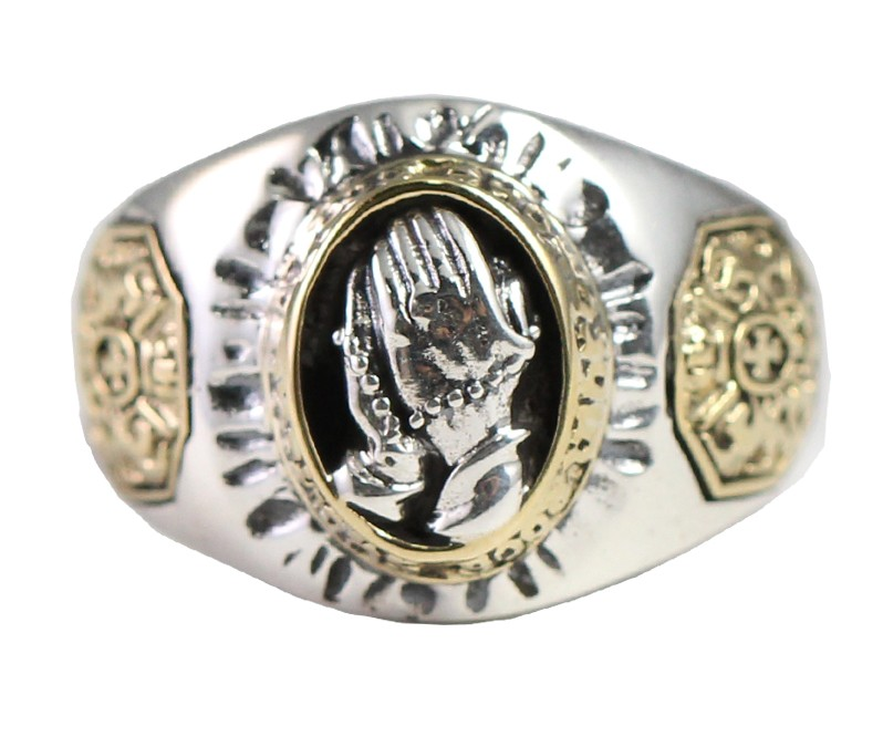 925 Silver Prayer Hand Ring925 Silver Prayer Hand Ring