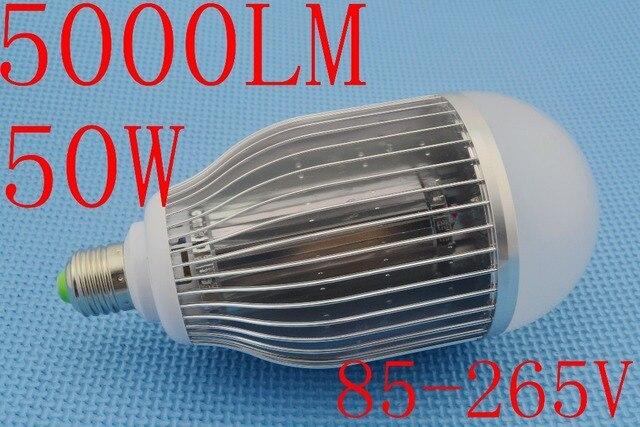 Brightness NEW 50W LED Bulb Lamp High brightness Bubble ball bulb E27 B22 E40 85-265V AC Cold white/warm white Free shipping